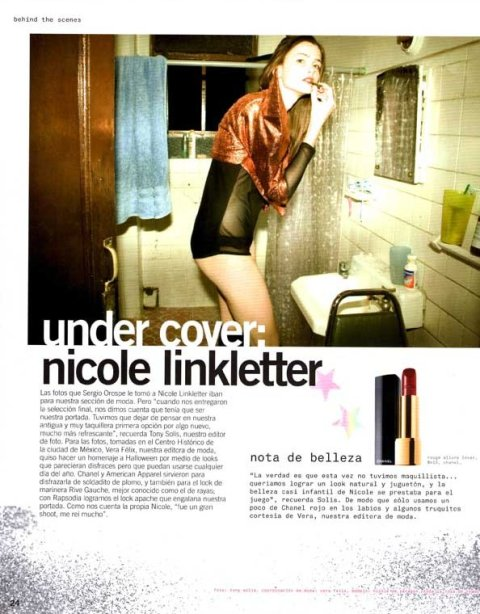 Nicole Linkletter Nylon Mexico October 98