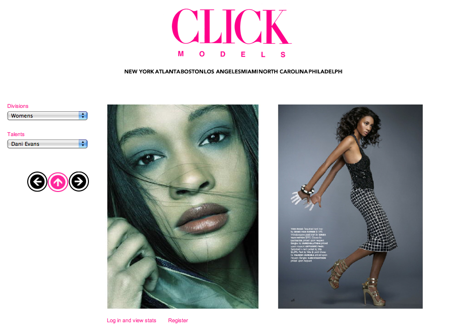 Dani Evans for Click Models photos | Where are the models of ANTM now?
